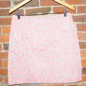 Vineyard Vines Pink Starfish Beach Mini Skirt 8